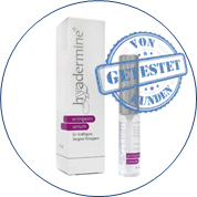 Hyadermine Wimpernserum Test
